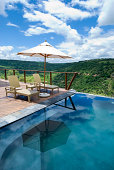Swimming pool at an african safari lodge.