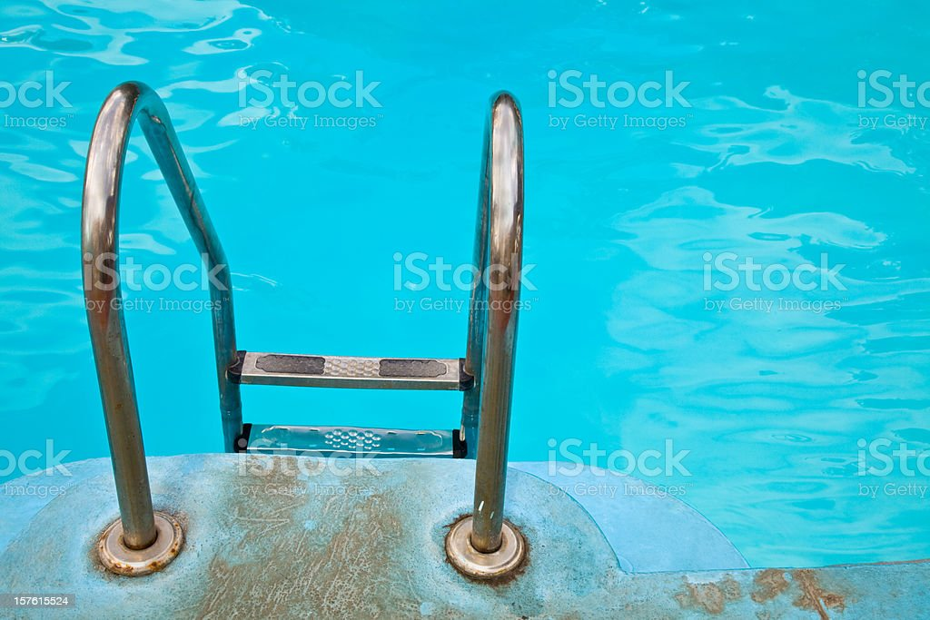 swimming pool stairs royalty-free stock photo
