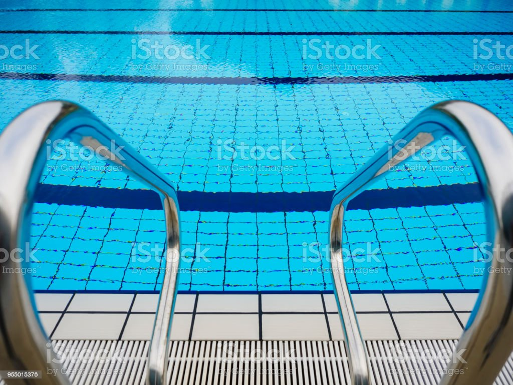 Swimming Pool Stairs perspective water sport summer background