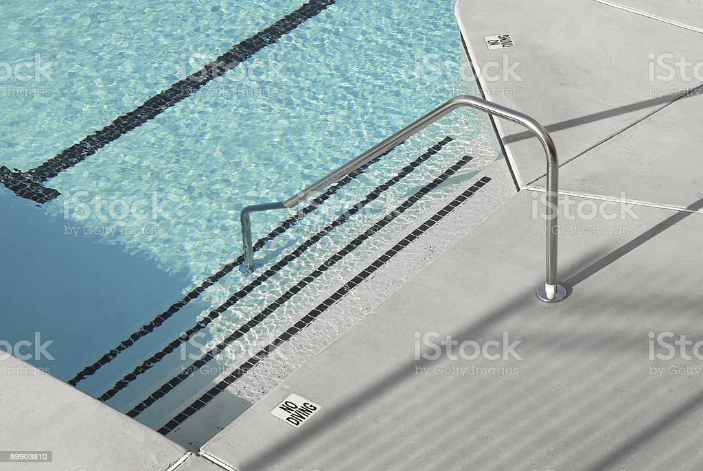 Swimming Pool Steps royalty-free stock photo