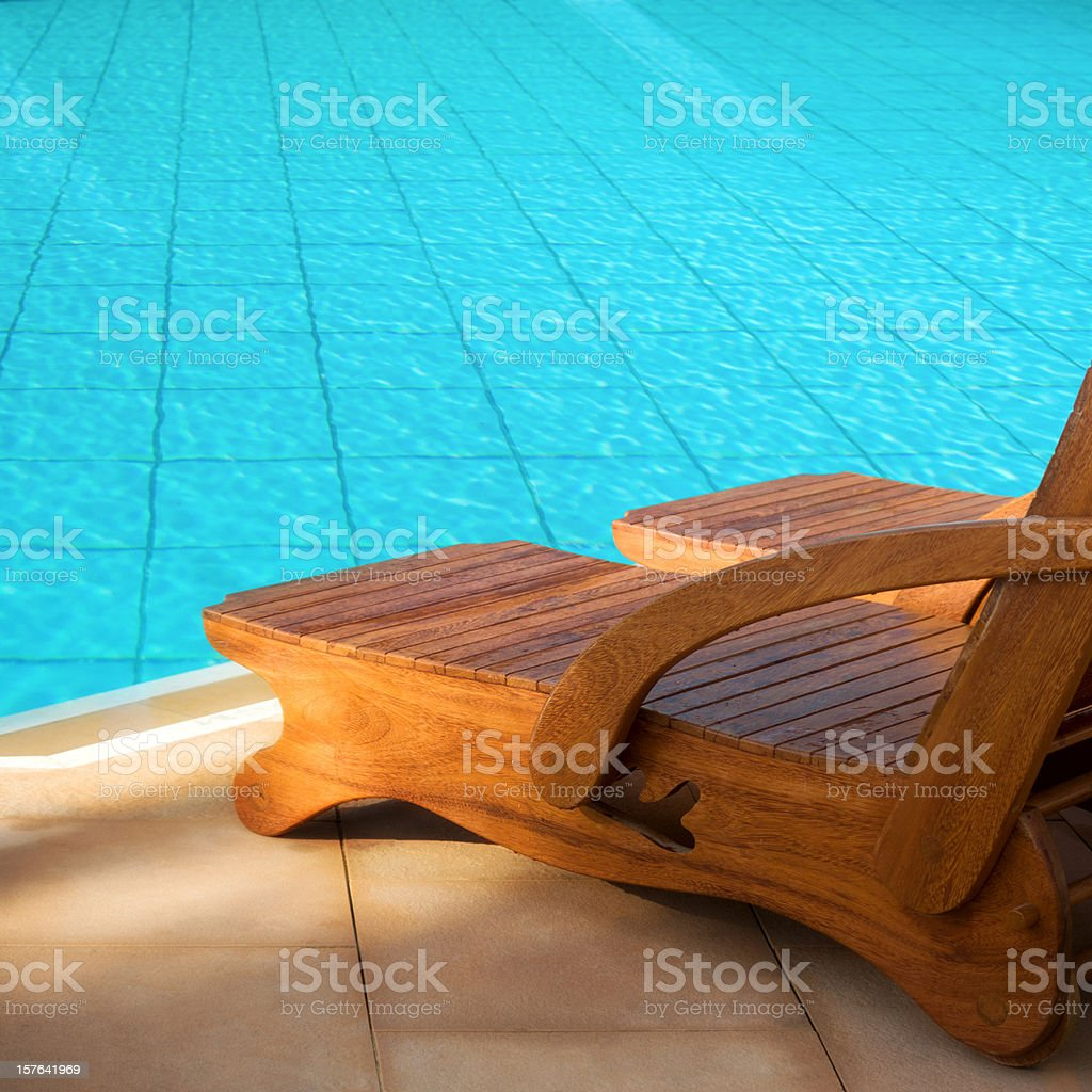 Swimming pool summer vacation image royalty-free stock photo