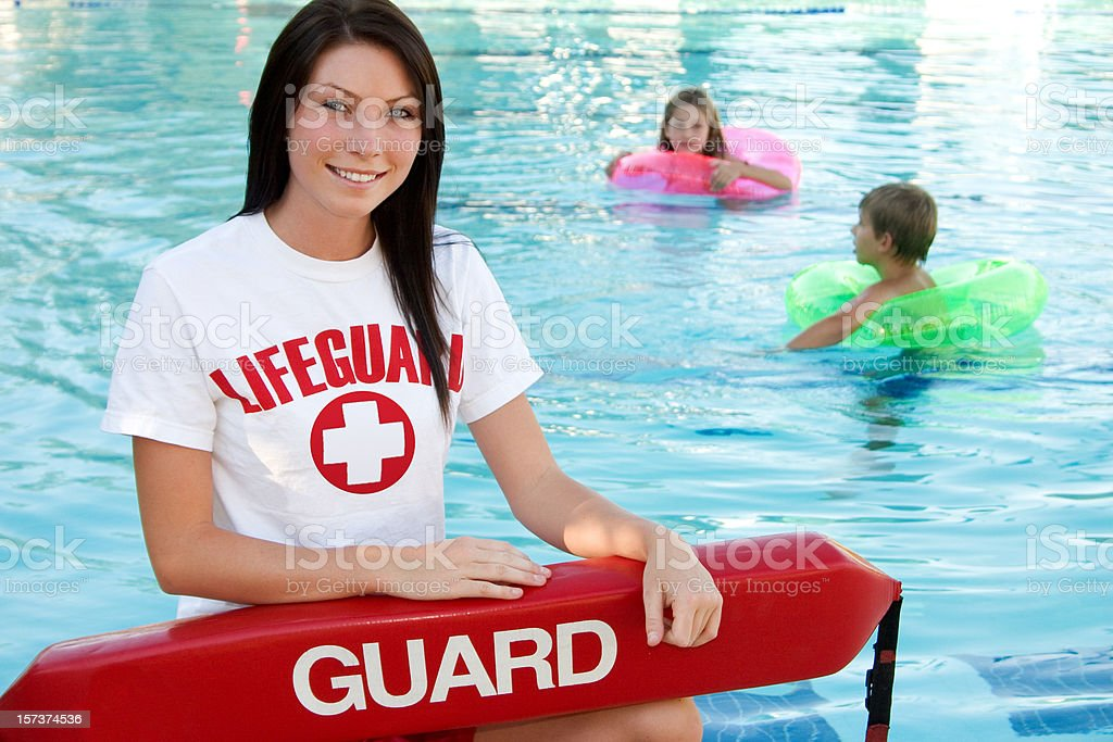 Swimming Pool Supervision stock photo