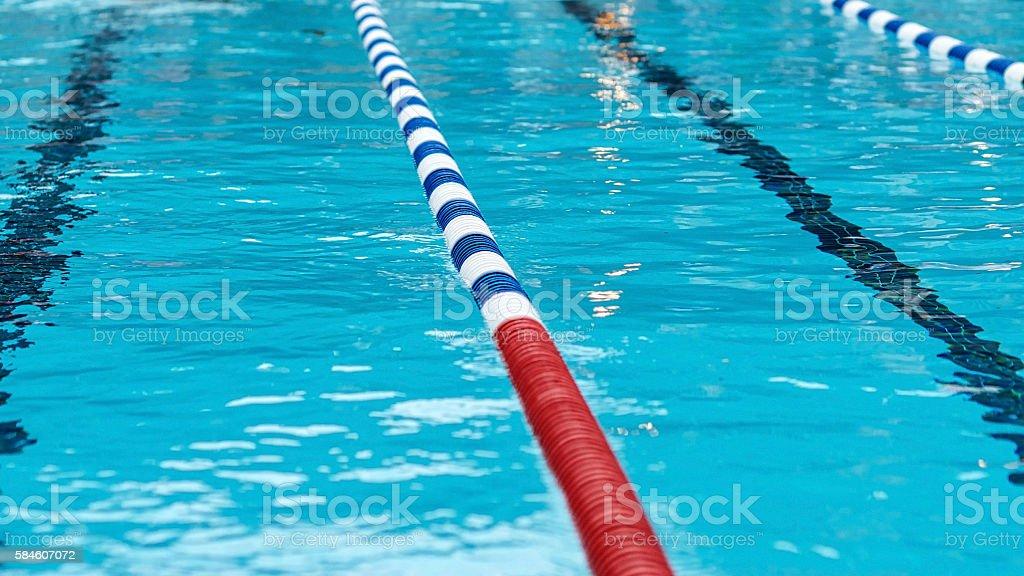 Swimming Pool Swim Lanes stock photo