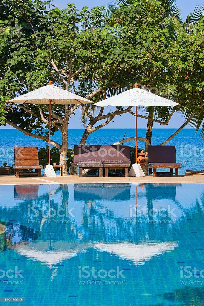 Swimming pool, Thailand. royalty-free stock photo