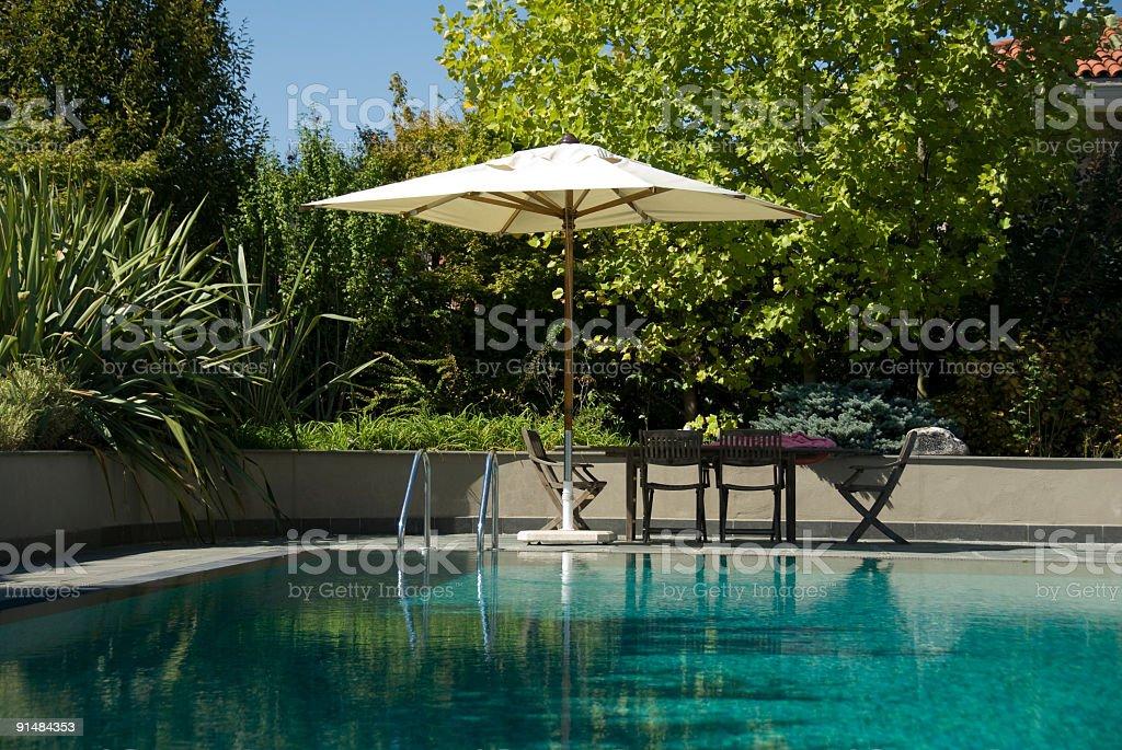 Swimming pool, Turkey, Istanbul royalty-free stock photo