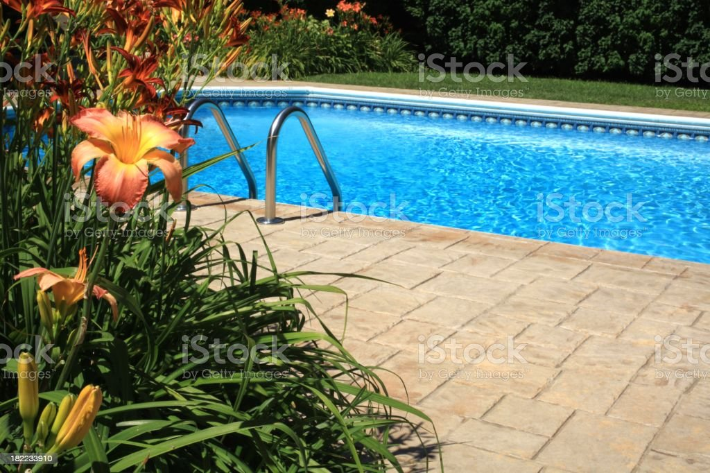 Swimming Pool with Copy Space - Royalty-free Blue Stock Photo