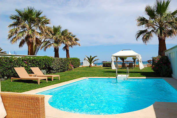 Swimmingpool mit Whirlpool im Luxus Villen, Kreta, Griechenland – Foto