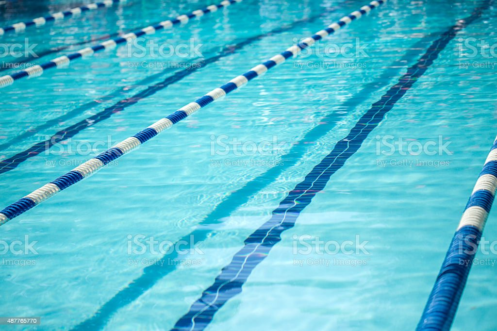 Swimming Pool With Line Dividers Stock Photo - Download ...