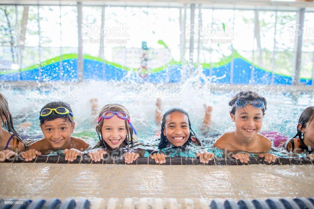 Swimming Practice - foto stock