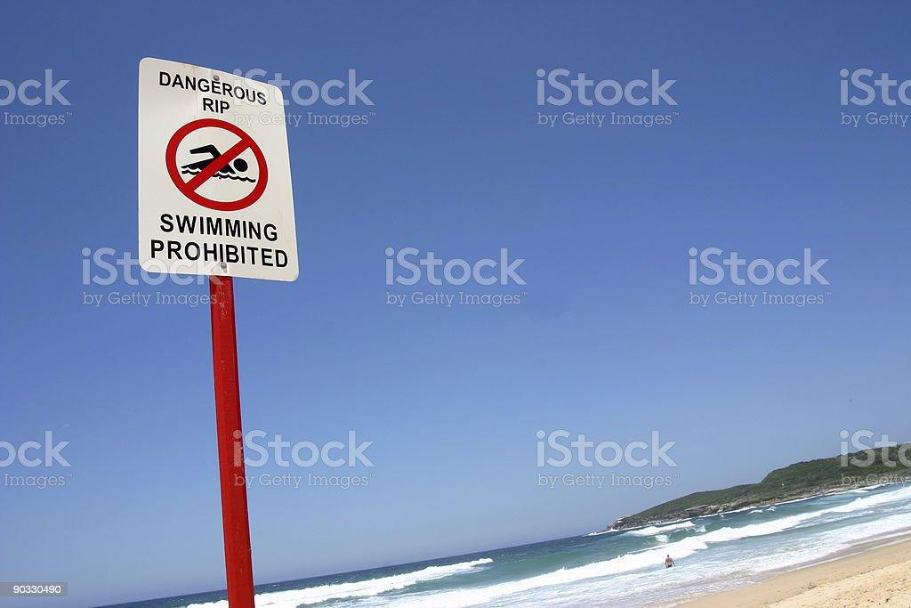 Swimming Prohibited royalty-free stock photo