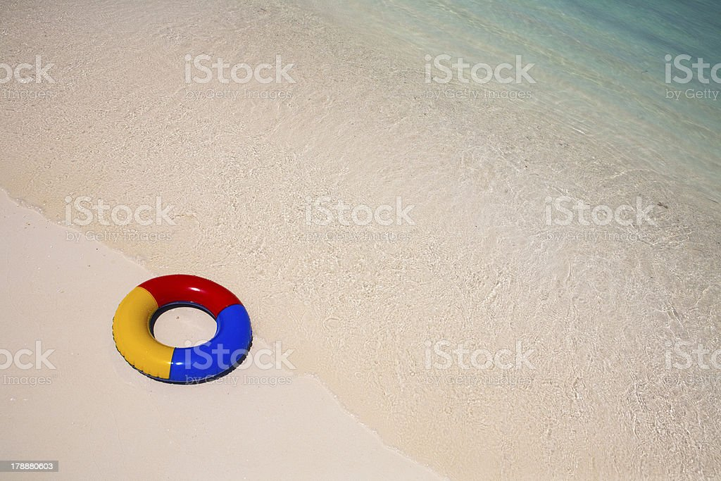 swimming ring at the beach royalty-free stock photo