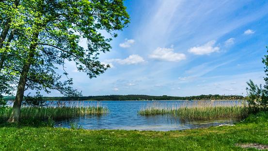 swimming spot at lake Krakower See