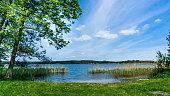 istock swimming spot at lake Krakower See 1212561091