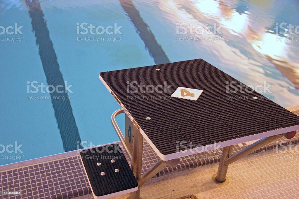 Swimming Starting Platform 2 royalty-free stock photo