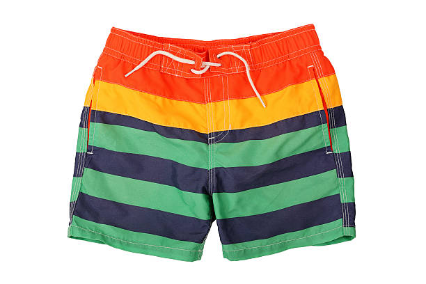 swimming trunks colorful swimming trunks isolated on white shorts stock pictures, royalty-free photos & images