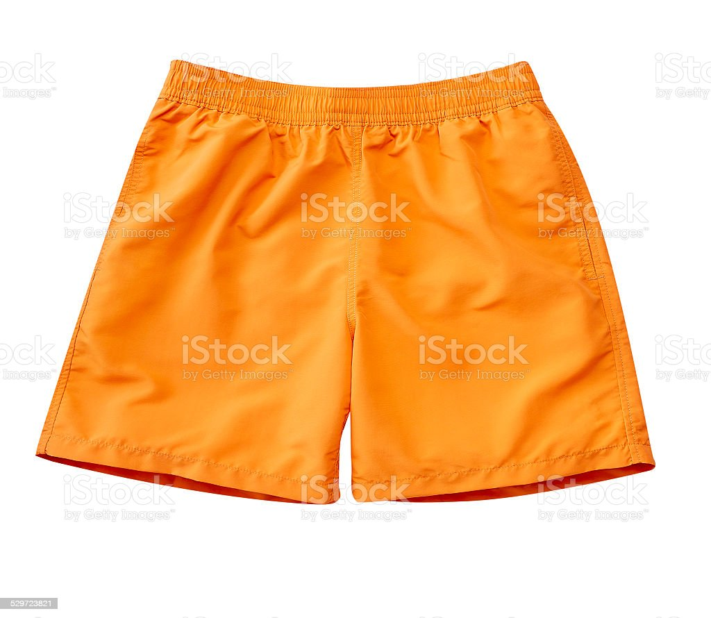 Swimming Trunks with clipping path stock photo