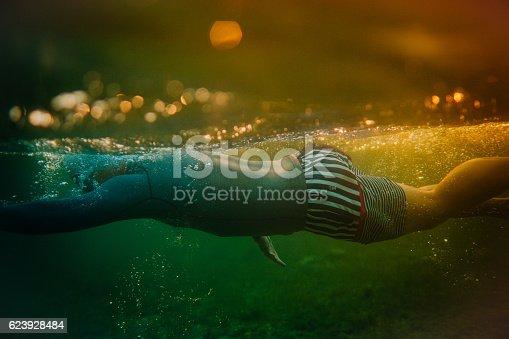 istock Swimming underwater 623928484