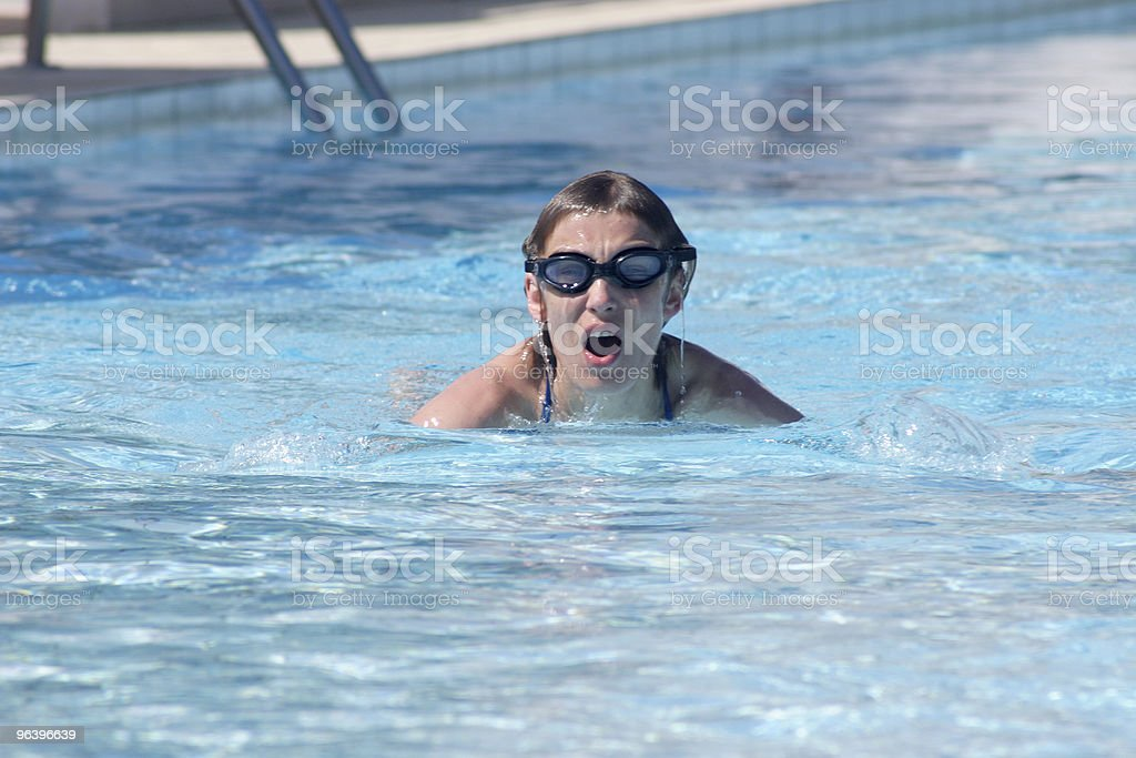 Swimming woman - Royalty-free Adult Stock Photo
