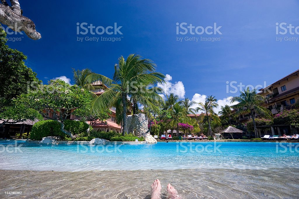Swimming-pool on tropical island royalty-free stock photo