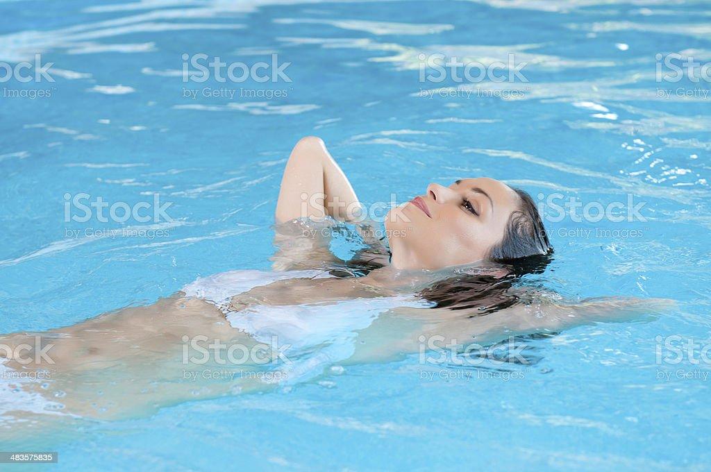 Swimmingpool relax stock photo