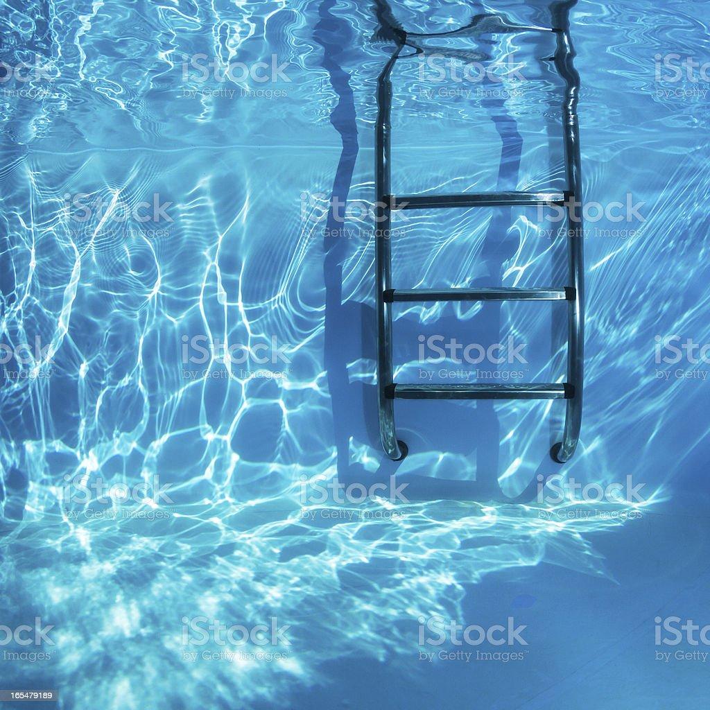 Swimmingpool Underwater stock photo