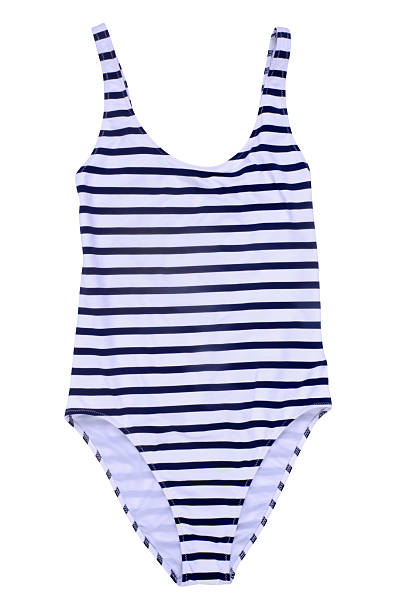 Swimwear striped patterned swimwear isolated on white background swimwear stock pictures, royalty-free photos & images