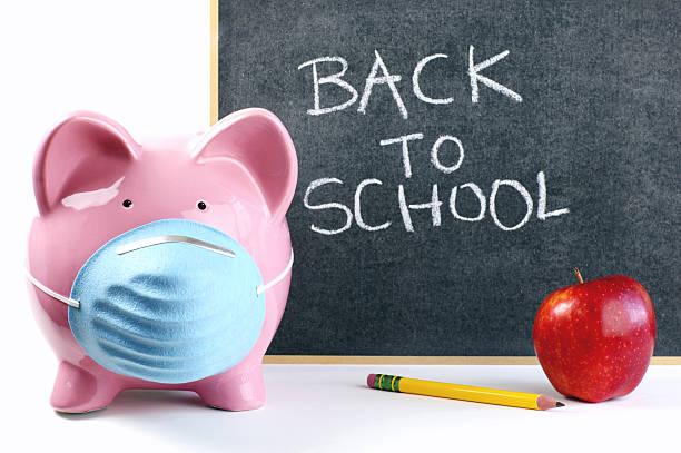 Swine Flu Back to School Concept stock photo