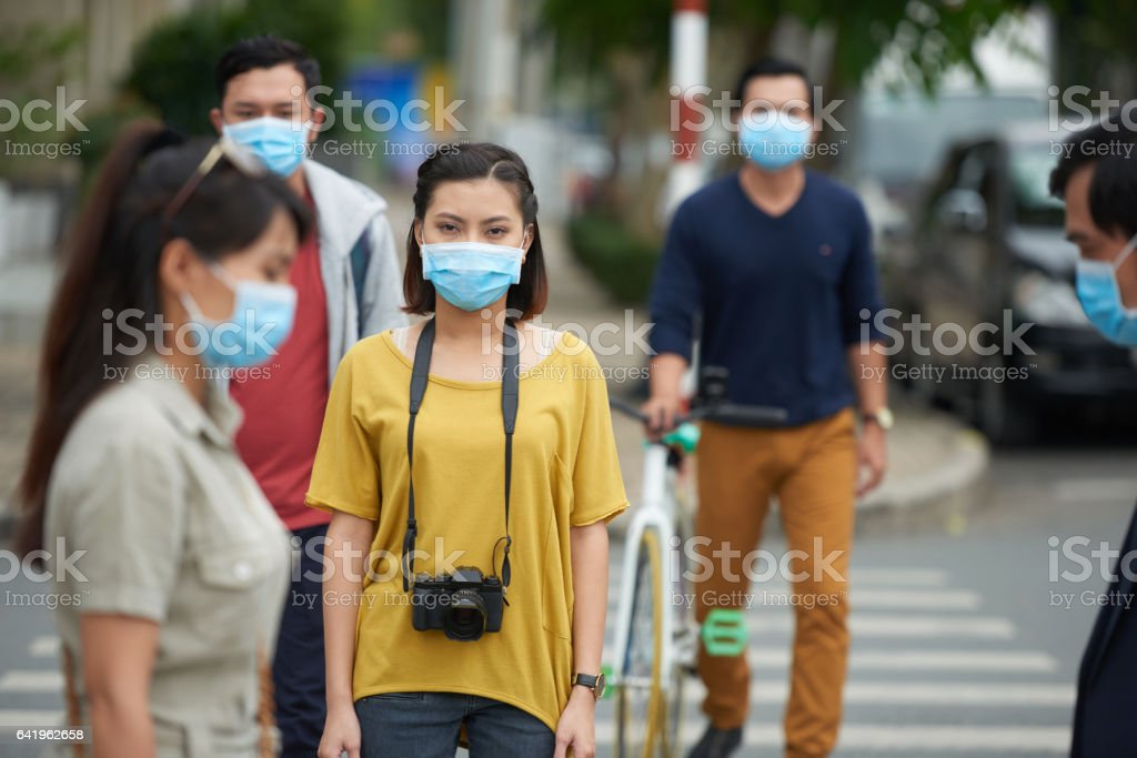 Swine flu epidemic stock photo