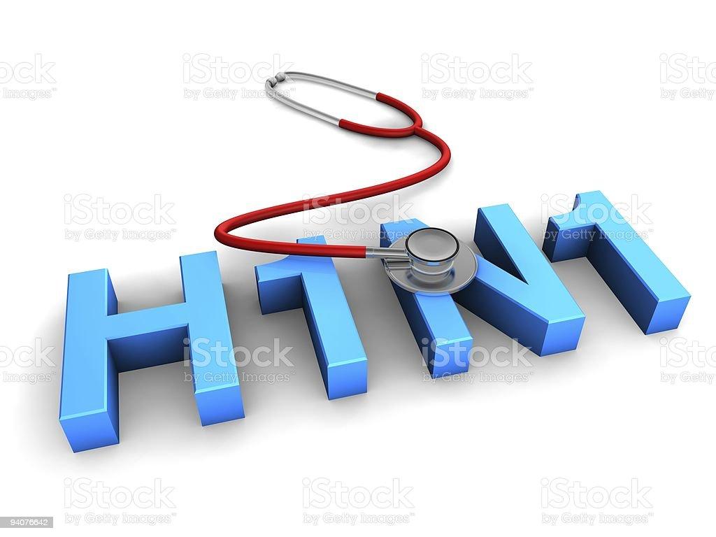 Swine Flu H1N1 Virus stock photo