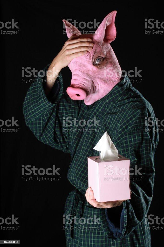 Swine Flu Headache royalty-free stock photo