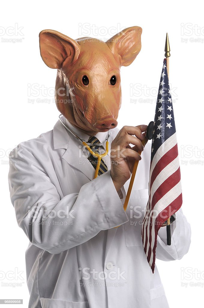 Swine Flu in America Concept royalty-free stock photo