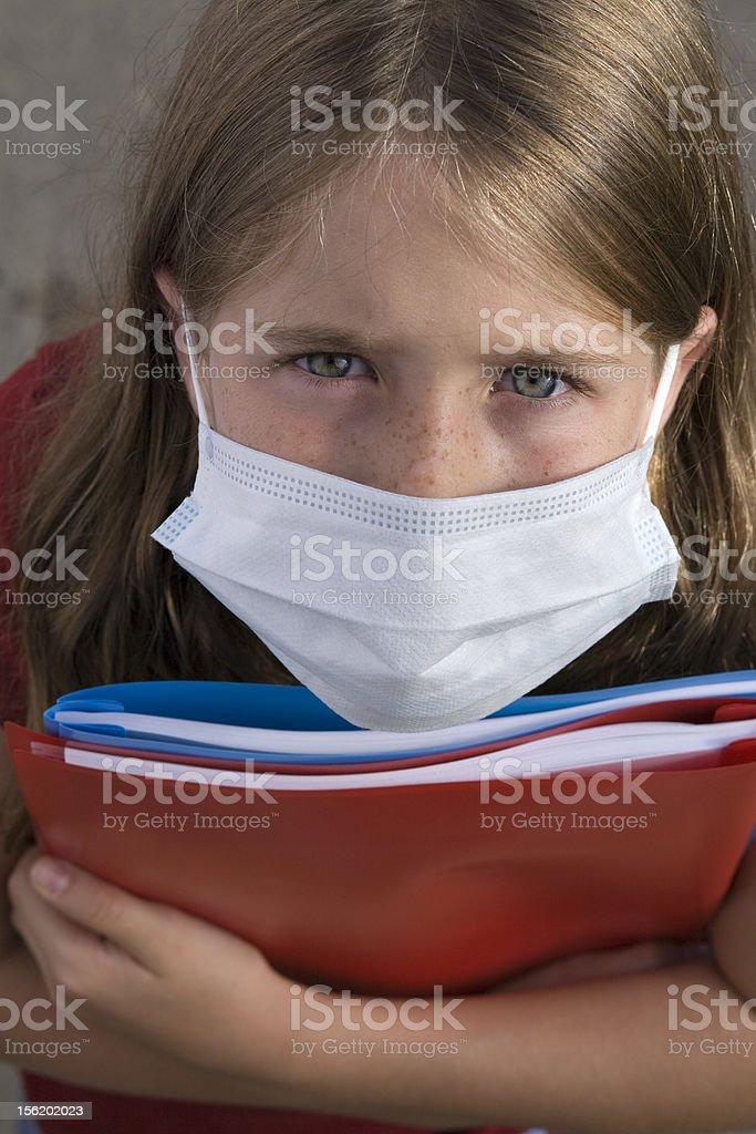 swine flu mask royalty-free stock photo