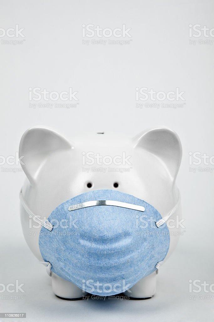 Swine flu or health care concept royalty-free stock photo