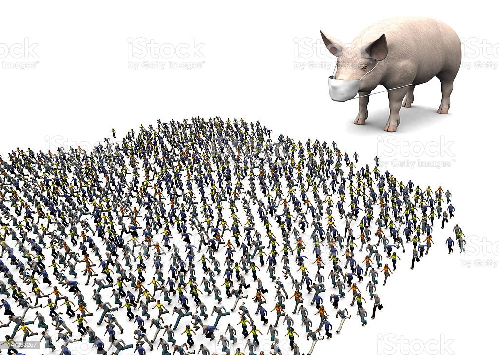 Swine Flu Panic royalty-free stock photo
