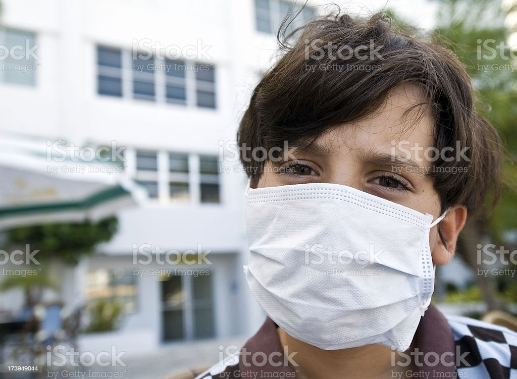 Swine flu paranoia royalty-free stock photo
