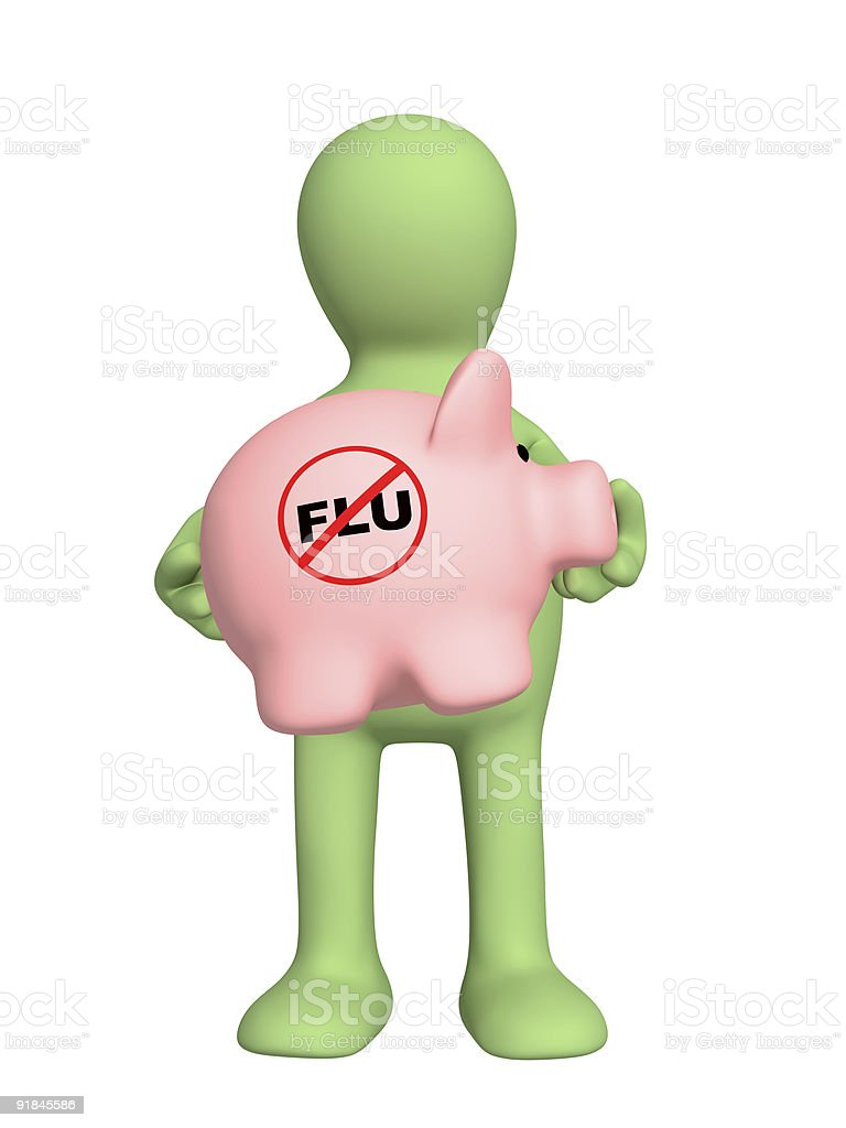 Swine flu royalty-free stock photo