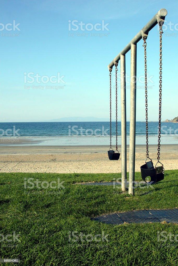 Swing at Sea royalty-free stock photo
