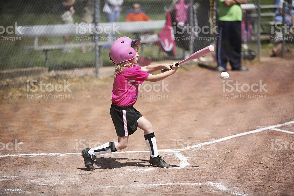 Swing batter stock photo