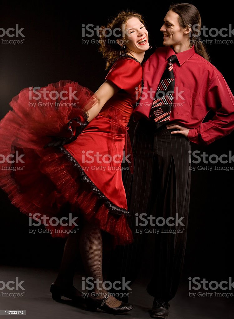 Swing dancers royalty-free stock photo