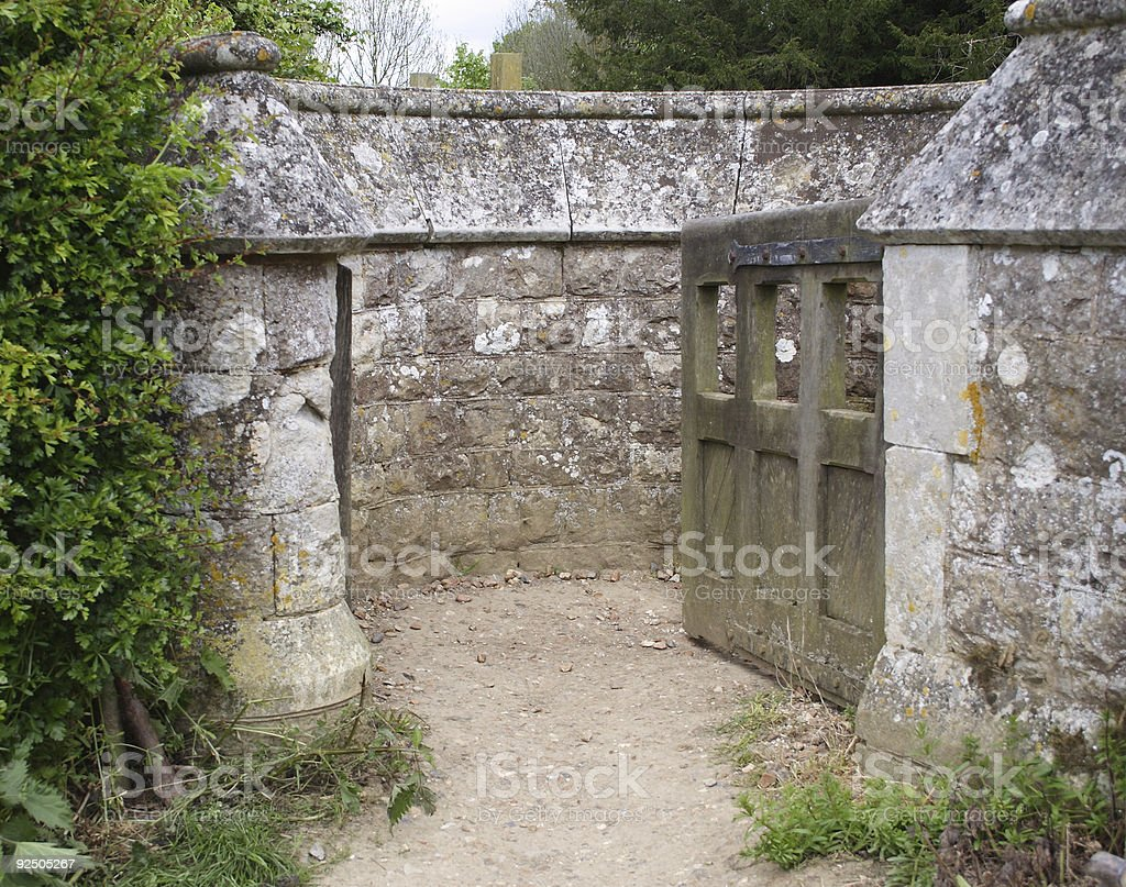 Swing gate royalty-free stock photo
