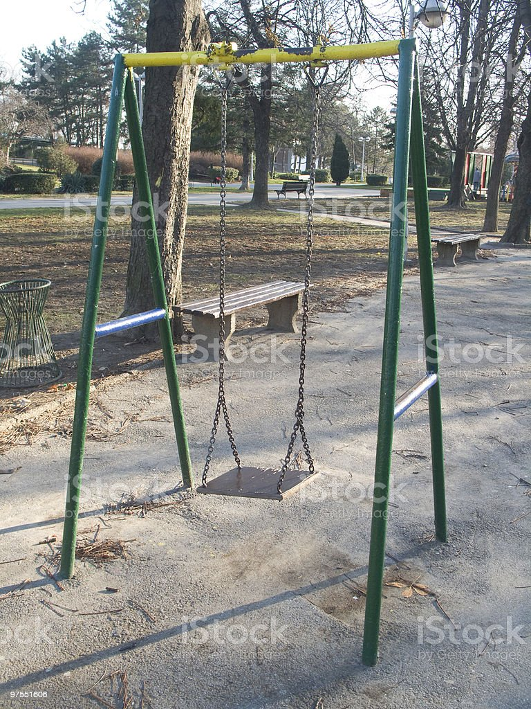 Swing dans le parc photo libre de droits