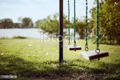 Playground, Summer, Swing, Wood - Material, Canada