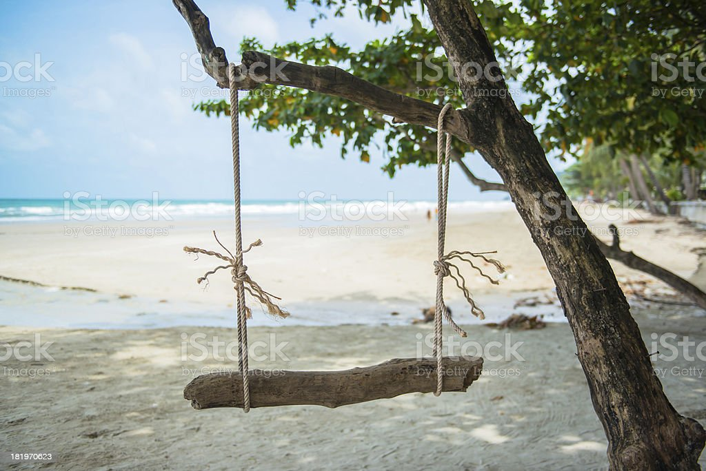 swing on the beach royalty-free stock photo