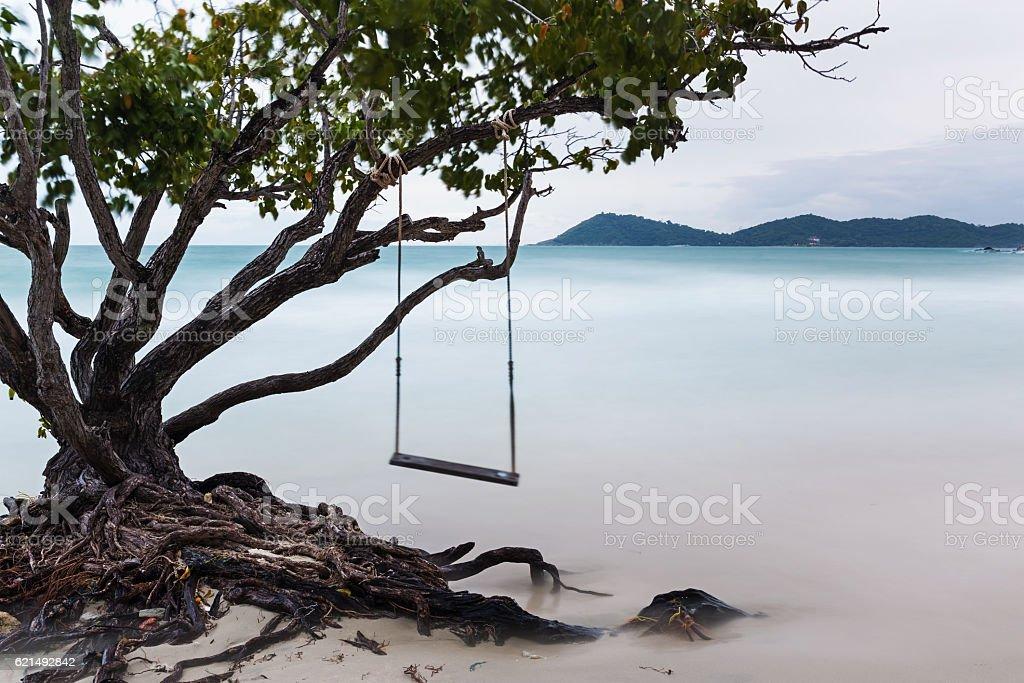 Altalena sulla spiaggia  foto stock royalty-free