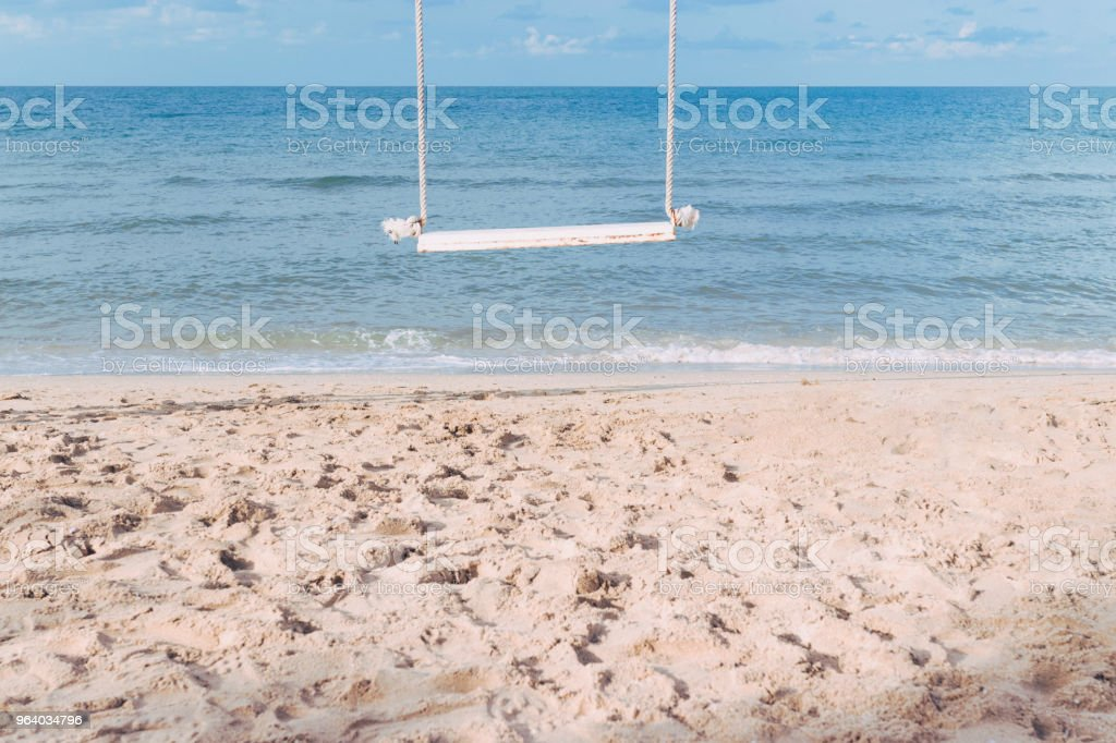 Swing on the beach. - Royalty-free Above Stock Photo