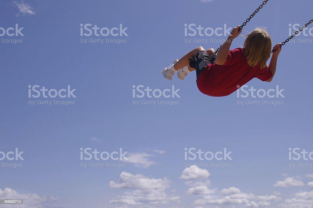 Swing ride royalty-free stock photo