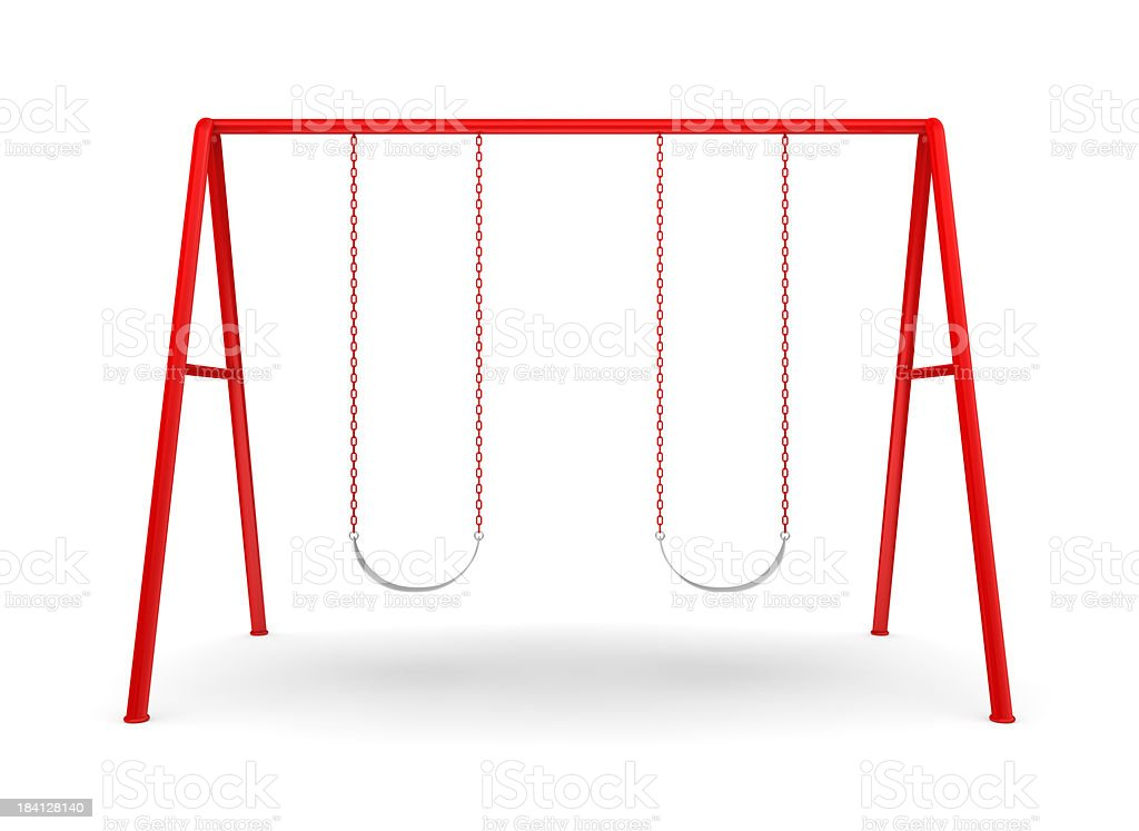 Swing Set on white stock photo