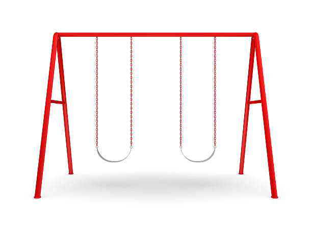 Swing Set on white stock photo