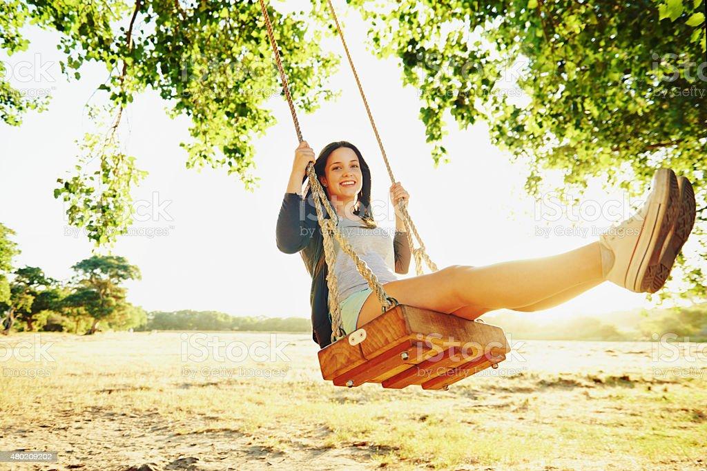 Swing towards your dreams stock photo
