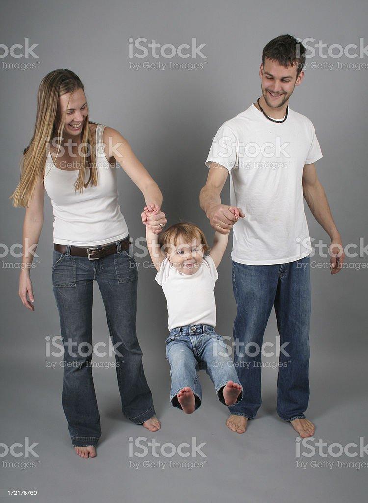 swinging baby royalty-free stock photo
